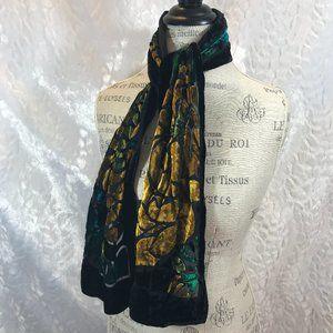 Vintage Gorgeous Frangi silk blend scarf Neck Band